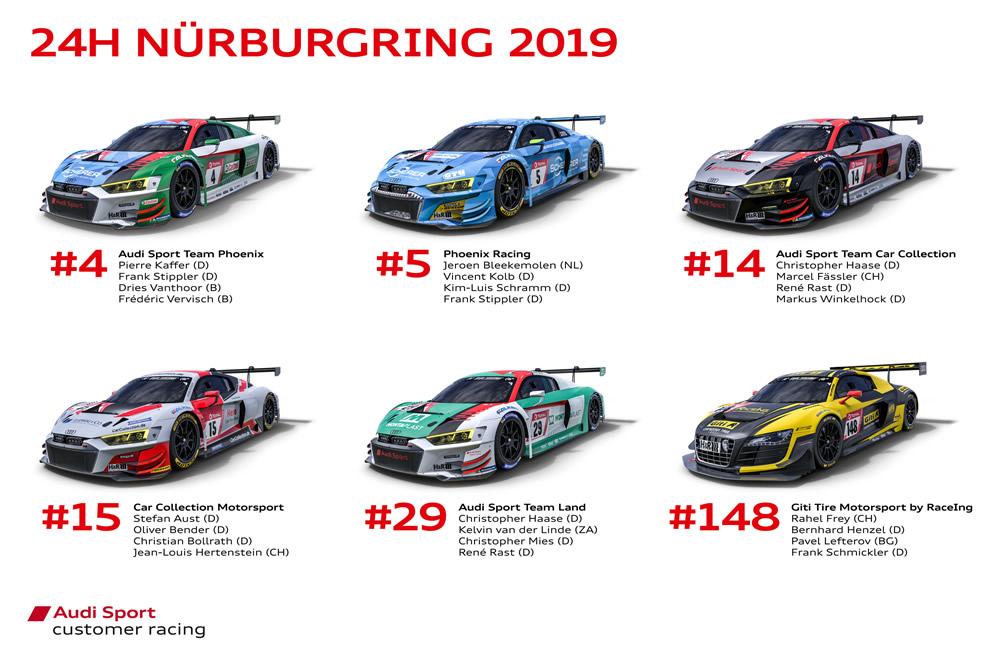 Audi Sport customer racing, 24h Nürburgring 2019