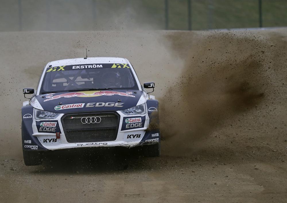 Weltmeister Mattias Ekström in seinem Audi SI EKS RX quattro
