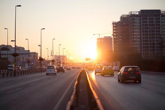 Blinken im Verkehr