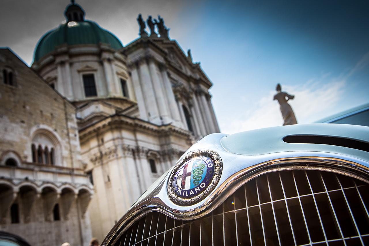 Alfa Romeo bei der Oldtimer-Rallye Mille Miglia 2018