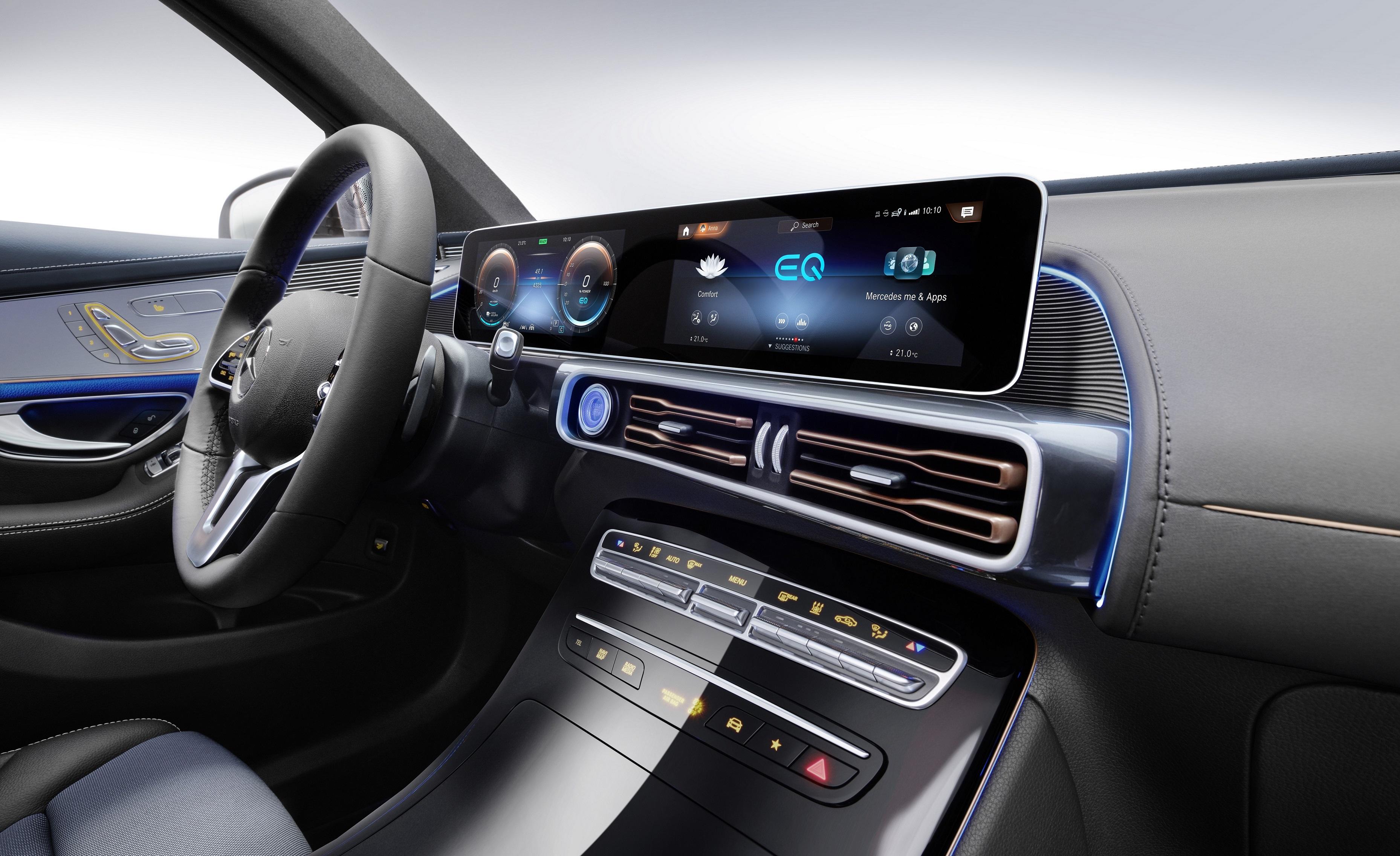 Innenansicht Cockpit Mercedes-Benz EQC 400 4MATIC