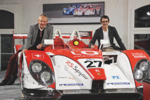 Fredy Lienhard und Sohn Fredy Alexander Lienhard (Bildquelle: (c) autobau erlebniswelt)
