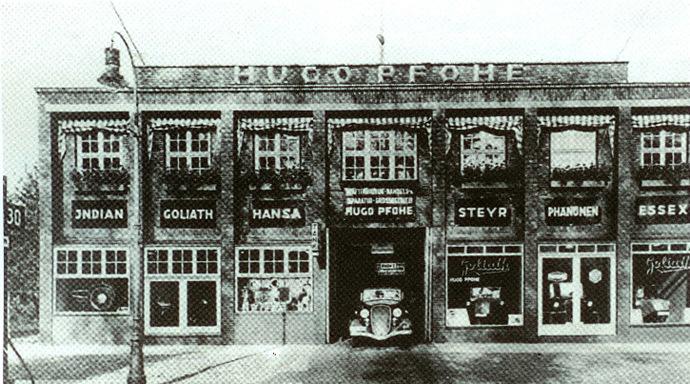 Die Barmbeker Straße 26 - ab 1925 Firmensitz von Hugo Pfohe
