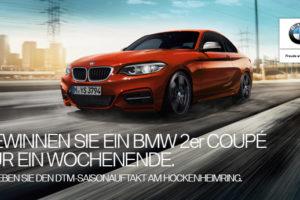 BMW Wettbewerb: unvergessliches Wochenende im BMW 2er Coupé und zwei packende DTM-Läufe voller Rennaction.