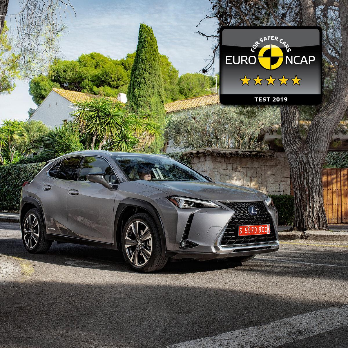 Lexus UX mit fünf Sternen im Euro NCAP Crashtest
