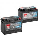 AGM-Batterie (Serie 9000) und EFB-Batterie (Serie 7000) aus der YBX-Baureihe von GS YUASA.