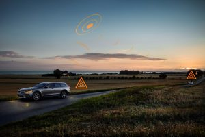 Hazard Light Alert - Demonstration im Volvo V90 Cross Country