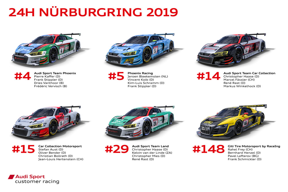 Audi Sport customer racing, 24h Nürburgring 2019