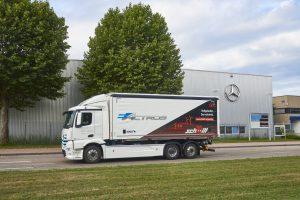 Vollelektrischer Lkw-Lieferverkehr bei Rastatt: Mercedes-Benz eActros bewährt sich im Praxiseinsatz bei Logistik Schmitt